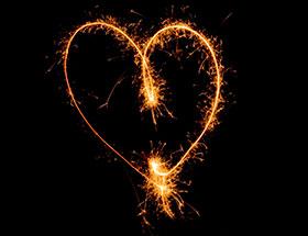 nyttårsforsett: kjærlighet
